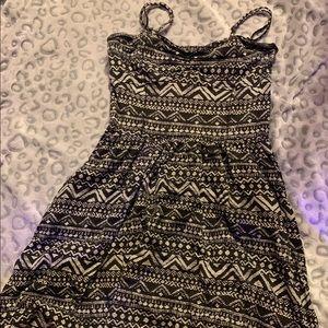Aeropostale Black & White Printed Dress
